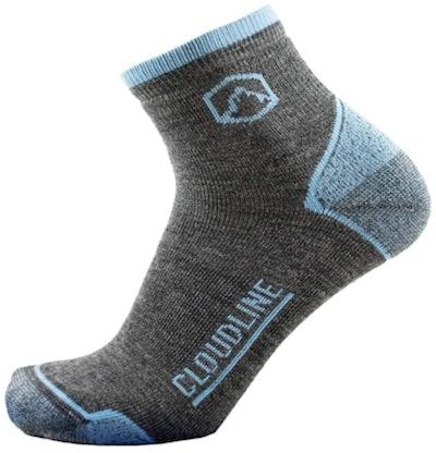 CloudLine Merino Wool Light Quarter Crew Socks