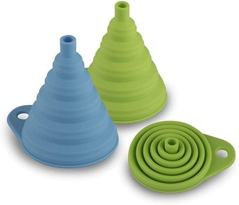 AxeSickle Silicone Collapsible Funnel (2 Pieces)