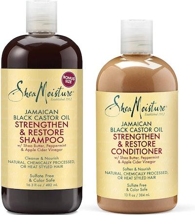 Shea Moisture Shampoo and Conditioner, 16.3 Oz and 13 Oz.