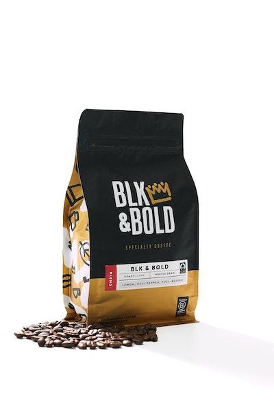 BLK & Bold - Coffee Blend, Dark Roast - 12 oz Whole Bean