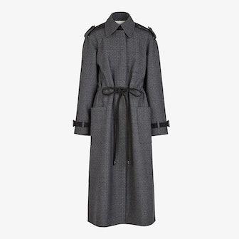 Gray Wool Trench Coat