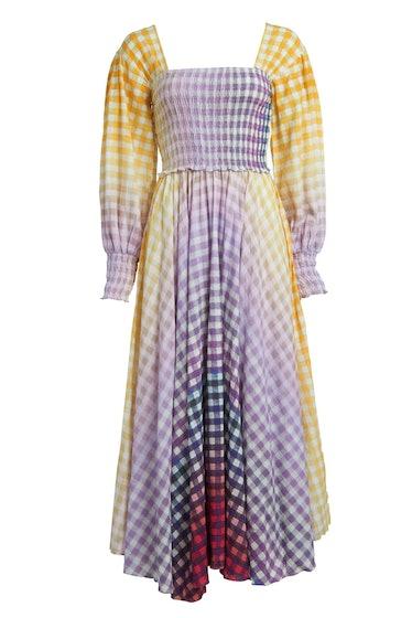 Eva Dress In Cosmic Gingham