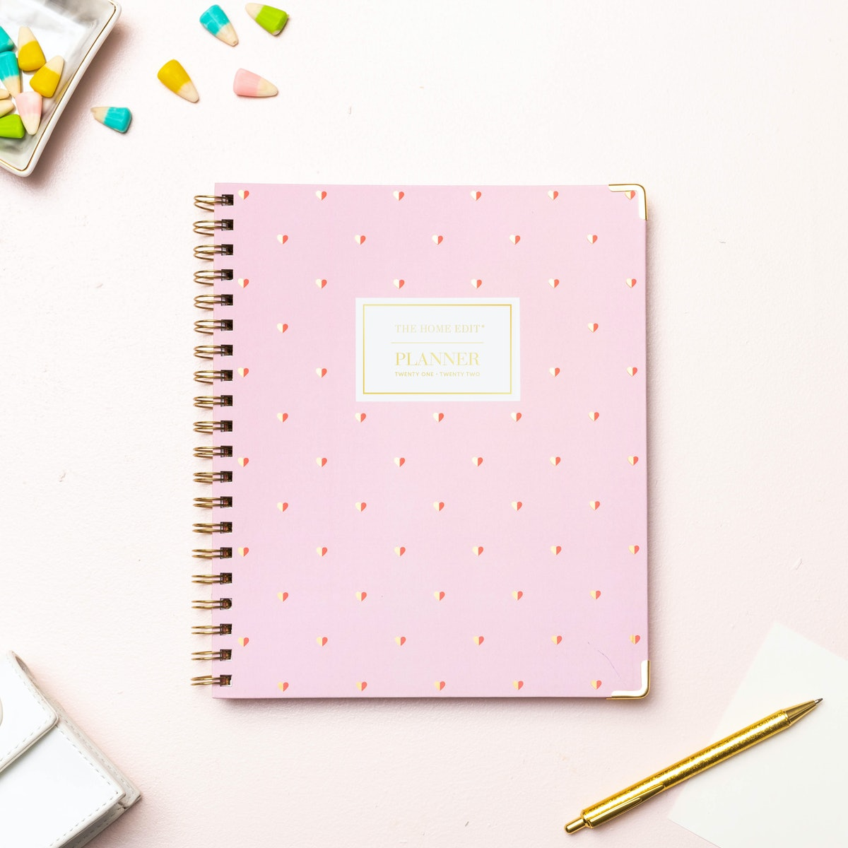"""2021-22 Academic Planner 6"""" x 8"""" Hard Cover Weekly/Monthly Wirebound Sweetheart - The Home Edit"""