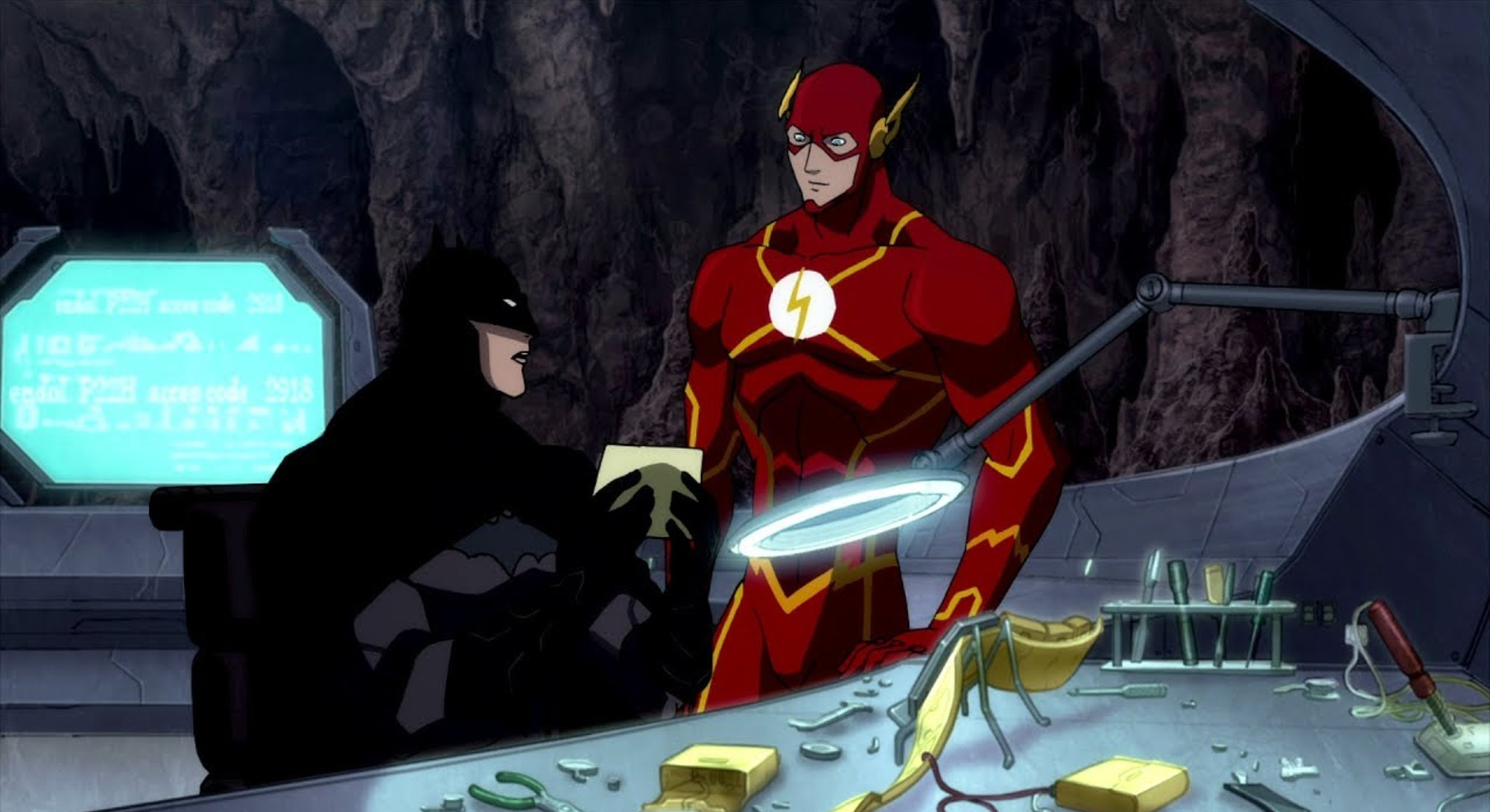 batman and flash from justice league flashpoint paradox