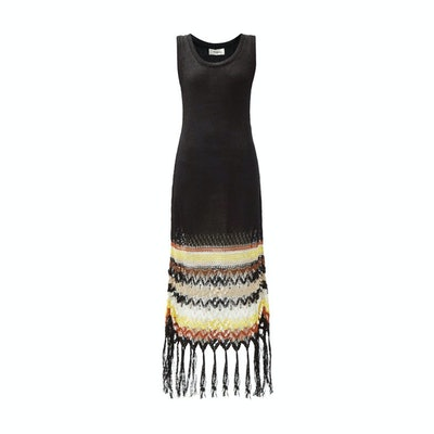 Wales Bonner Crocheted Linen-blend dress