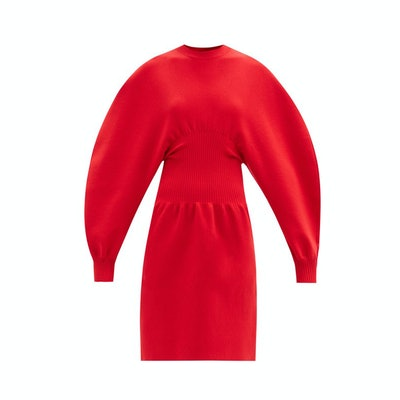 Bottega Veneta Round-shoulder wool-blend knitted dress
