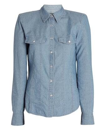 Crawford Padded Shoulder Chambray Shirt