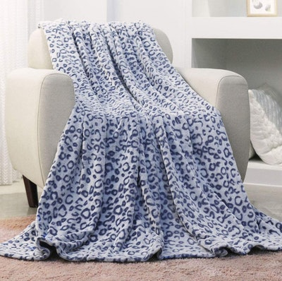 FY FIBER HOUSE Cheetah Printed Throw Blanket