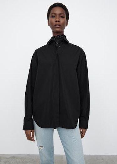 Oversized Poplin Shirt Black