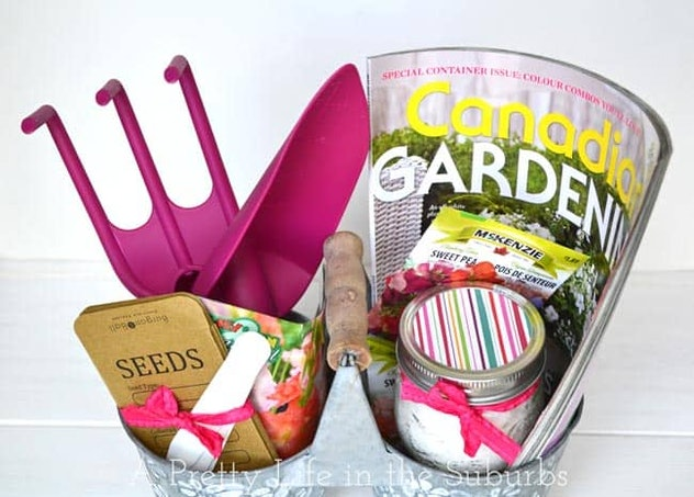Garden gift basket.