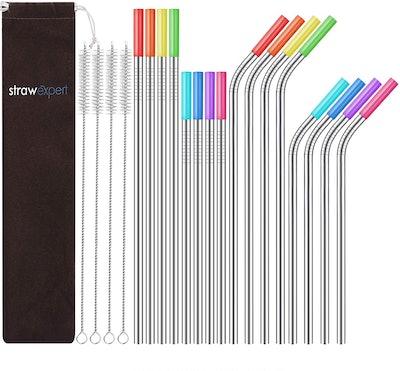 Strawexpert Reusable Straws (16-Pack)