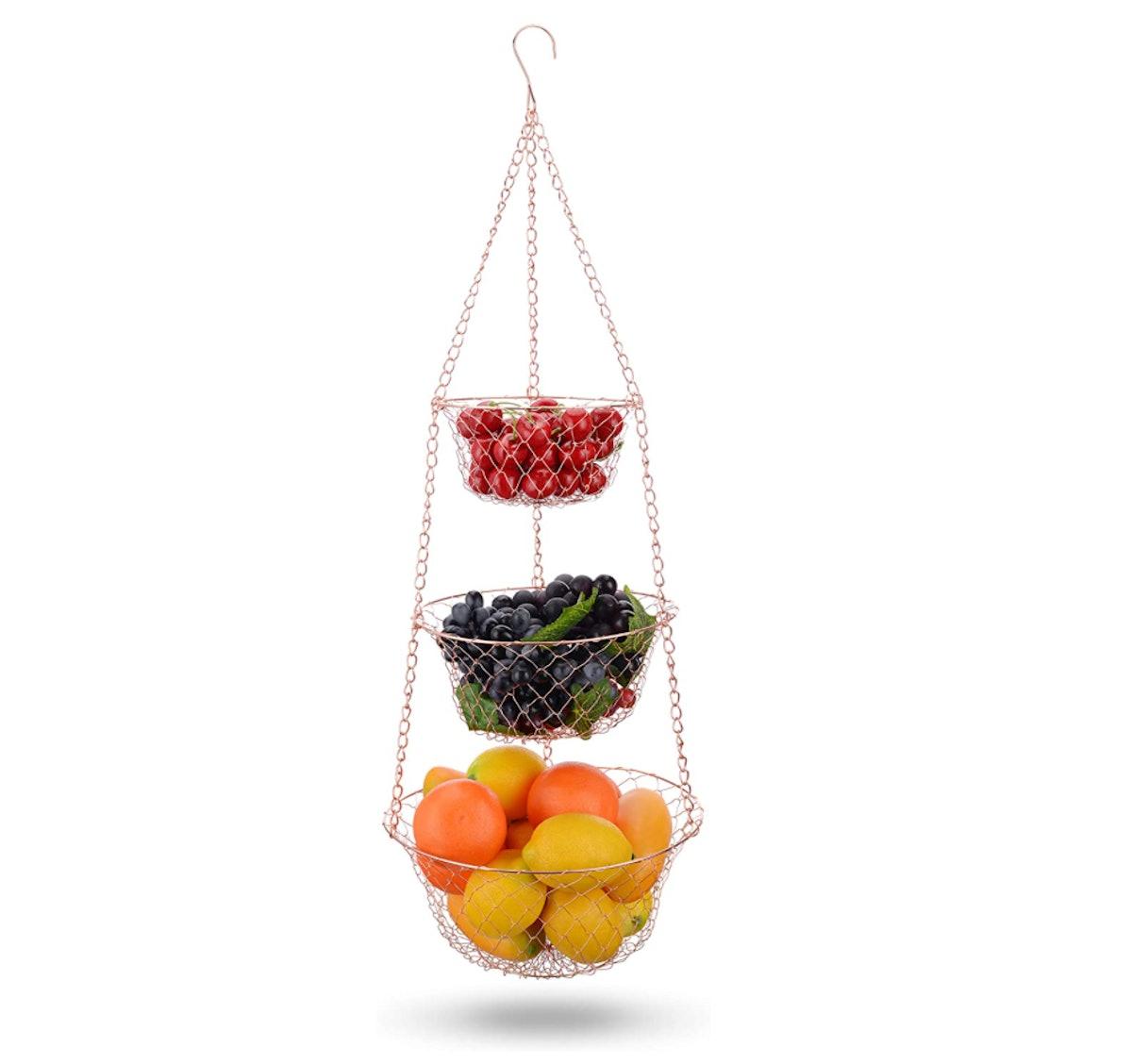 IBERG Tiered Hanging Fruit Basket