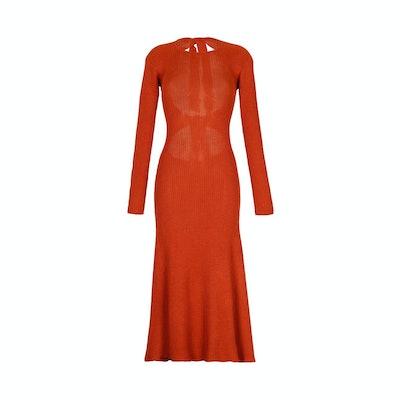 Escvdo Ribbed Midi Dress