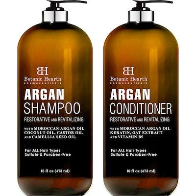 Botanic Hearth Argan Oil Shampoo and Conditioner, 16 Oz. Each
