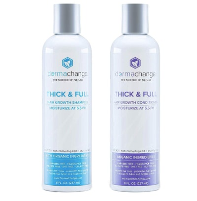 DermaChange Organic Hair Growth Shampoo and Conditioner, 8 Oz. Each