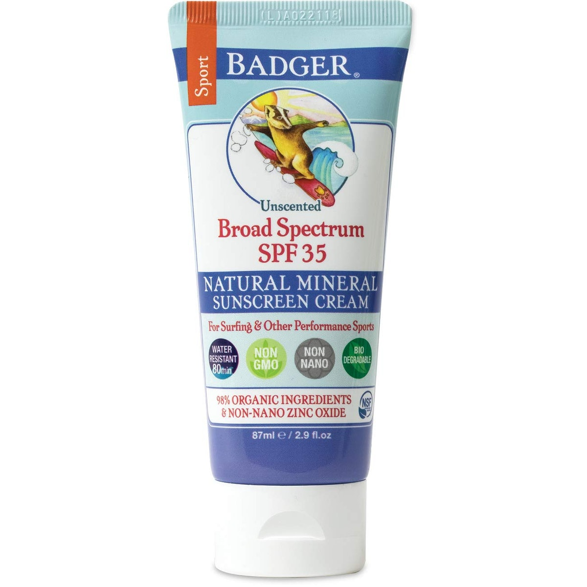 Badger Natural Mineral Sunscreen Cream