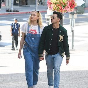 Sophie Turner and Joe Jonas are seen on February 28, 2020 in Los Angeles, California.