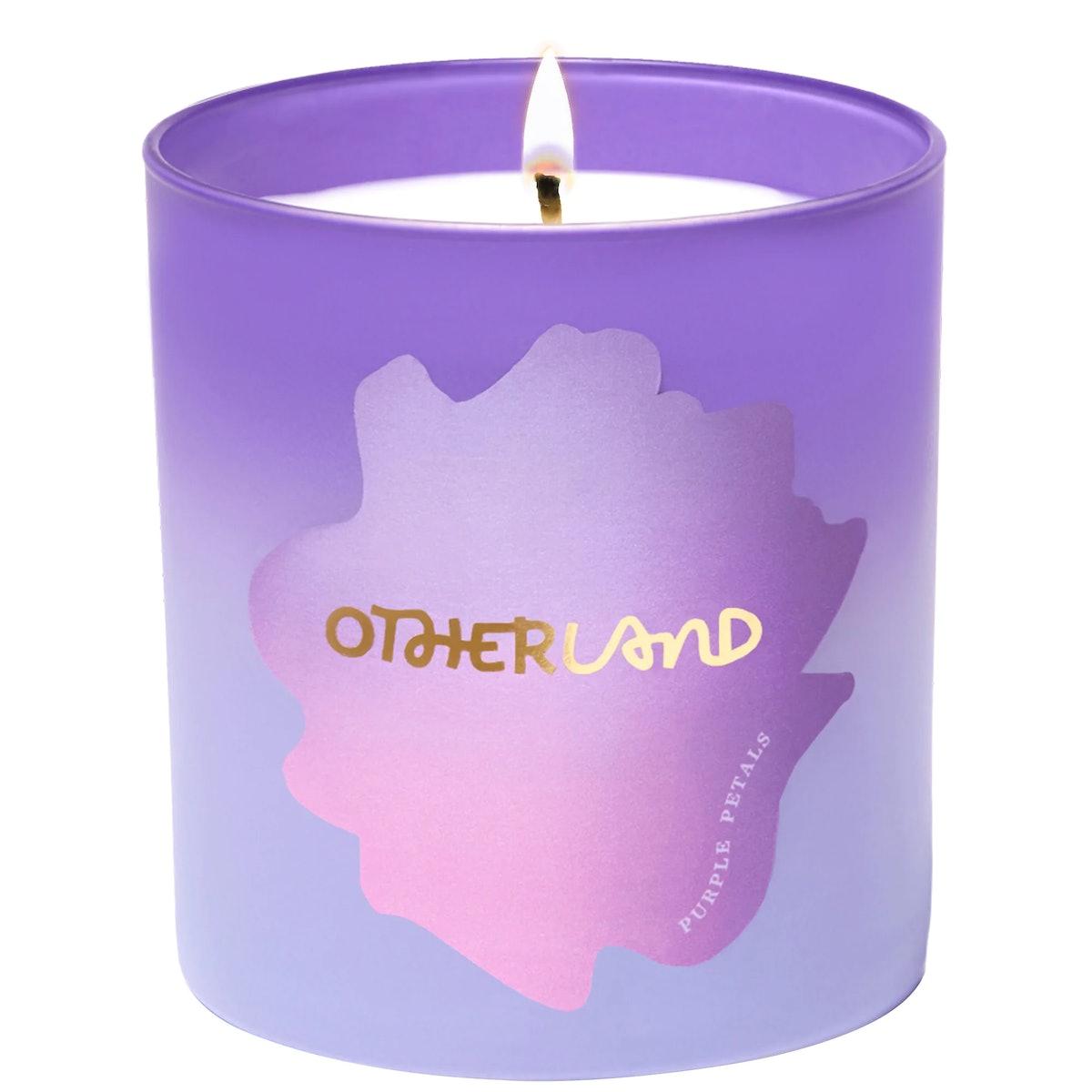 Purple Petals Lilac Vegan Candle