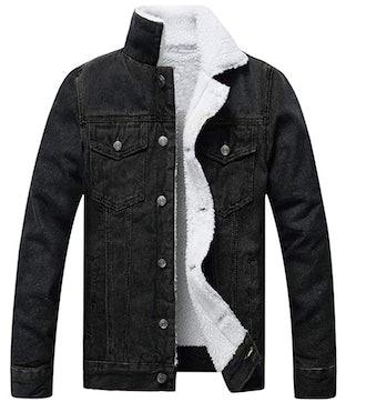 Omoon Sherpa-Lined Denim Jacket