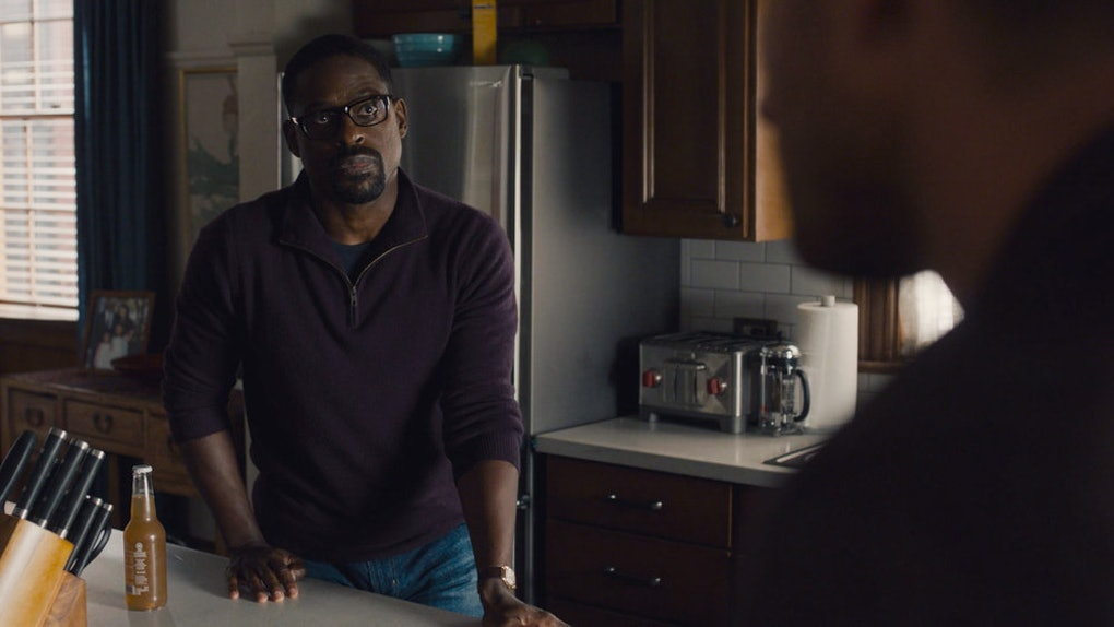 Sterling K. Brown as Randall, Justin Hartley as Kevin in This Is Us