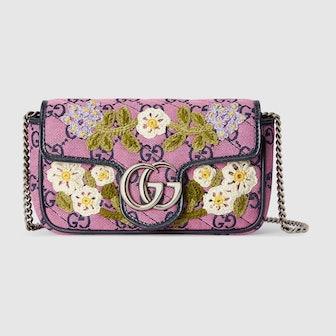 GG Marmont Multicolor Super Mini Bag