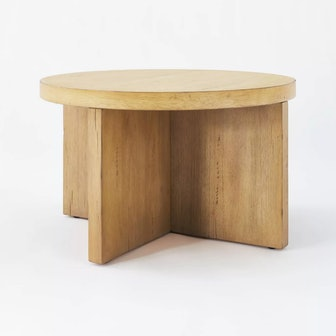 Bluff Park Round Wood Coffee Table Natural