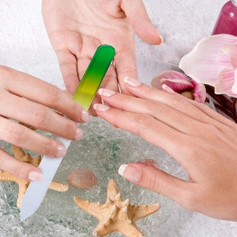 LUOTIVON Glass Nail File (4-Pack)