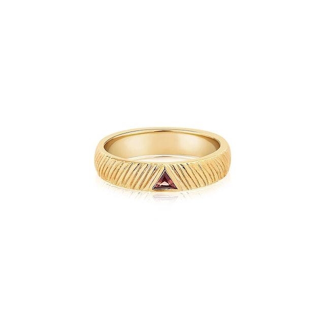 Fire Garnet Ring in Gold