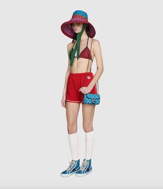 Red Interlocking G Jersey Shorts