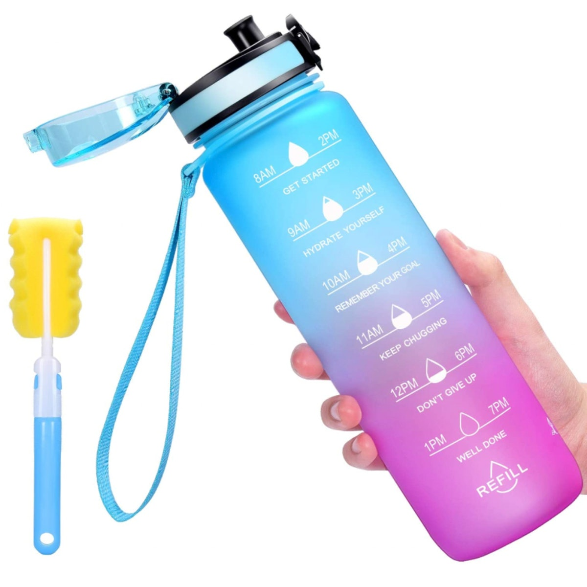 Favofit Water Bottle with Time Marker