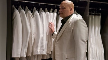 Vincent D'Onofrio as Wilson Fisk/Kingpin with his white suits in Netflix and Marvel's Daredevil