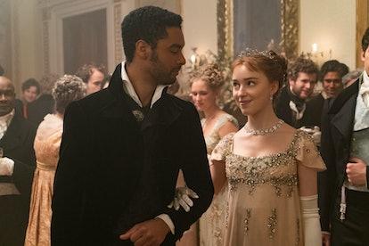 Simon and Daphne in 'Bridgerton.' Photo via Netflix