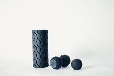 Therabody's Wave Roller, Wave Duo, and Wave Solo, from left to right, are pictured next to each othe...