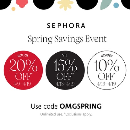 Sephora's Spring 2021 Savings Event is back for another year. You can score up to 20% off your favorite beauty products from now until April 19.
