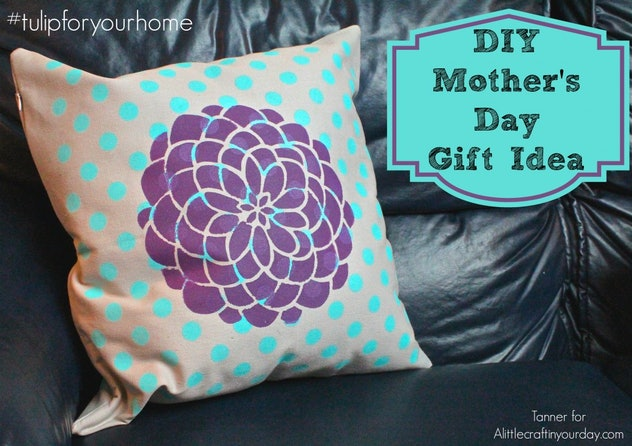 Painted throw pillow.