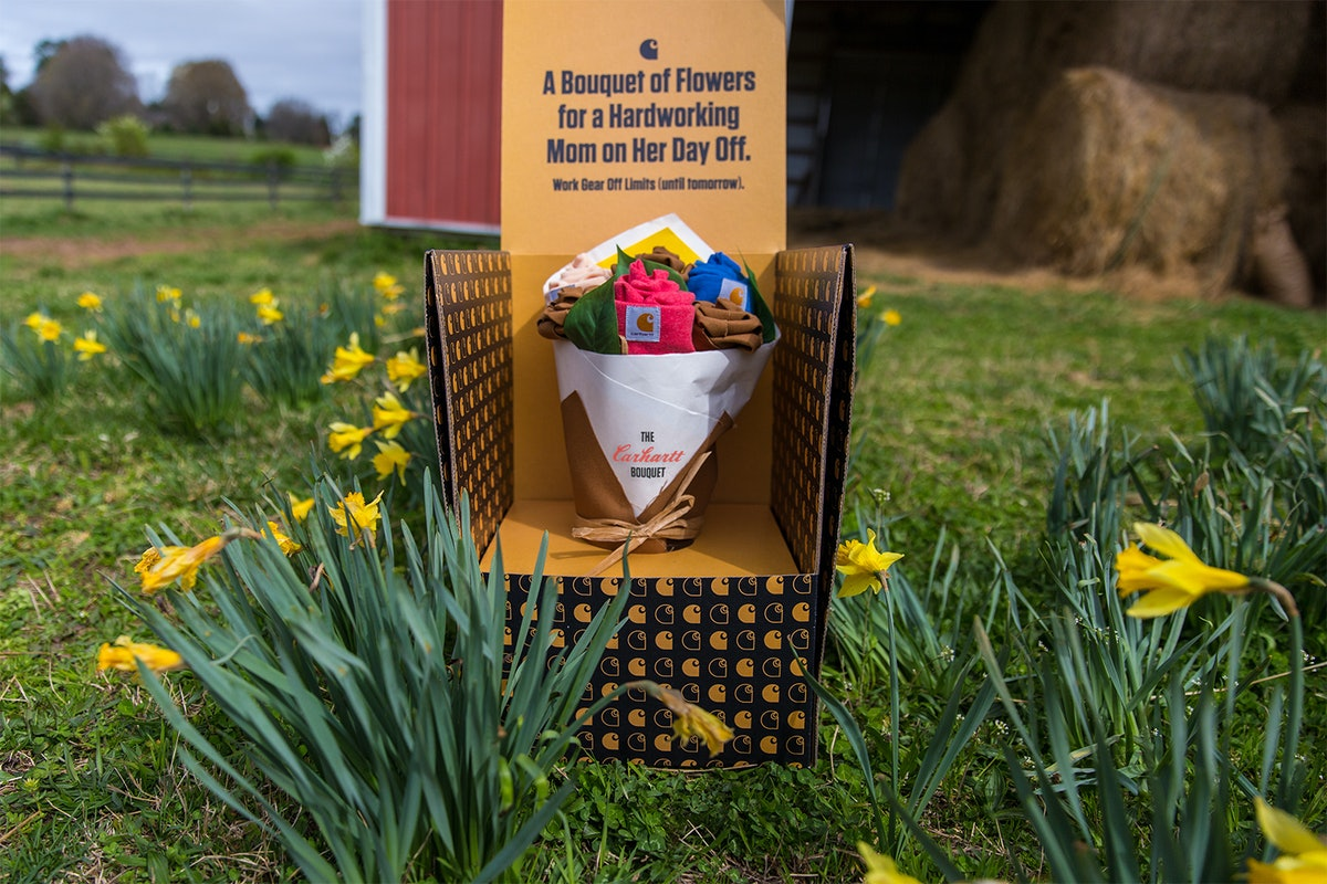Carhartt's Mother's Day 2021 bouquets are made of comfy attire your mom can relax in, and comes in a specially-designed box.