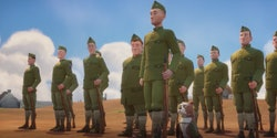 Sgt. Stubby is an animated film about a dog on the front lines of World War I.