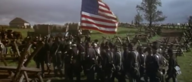 Martin Sheen stars in the 1993 film, Gettysburg.