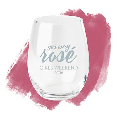 Yes Way Rose Wine Glass