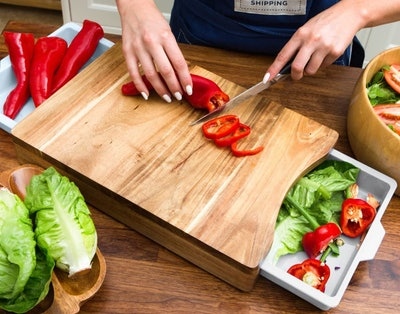 Kristie's Kitchen Cutting Board with Containers
