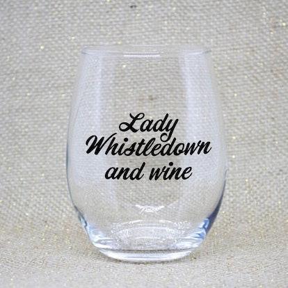 Bridgerton Wine Glass: Lady Whistledown
