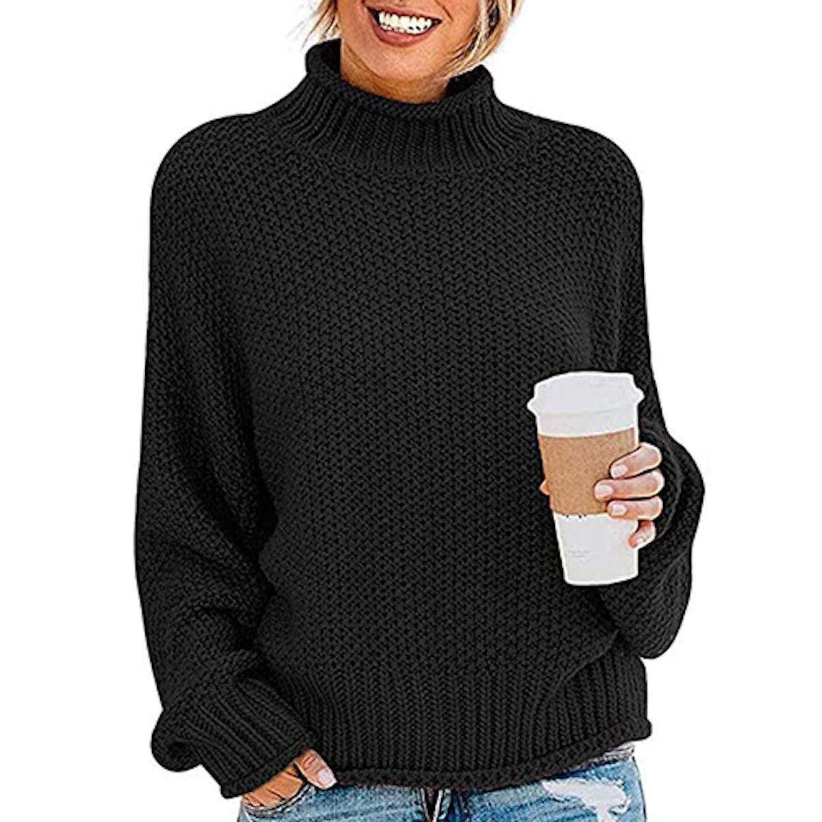 ZESICA Oversized Turtleneck Sweater