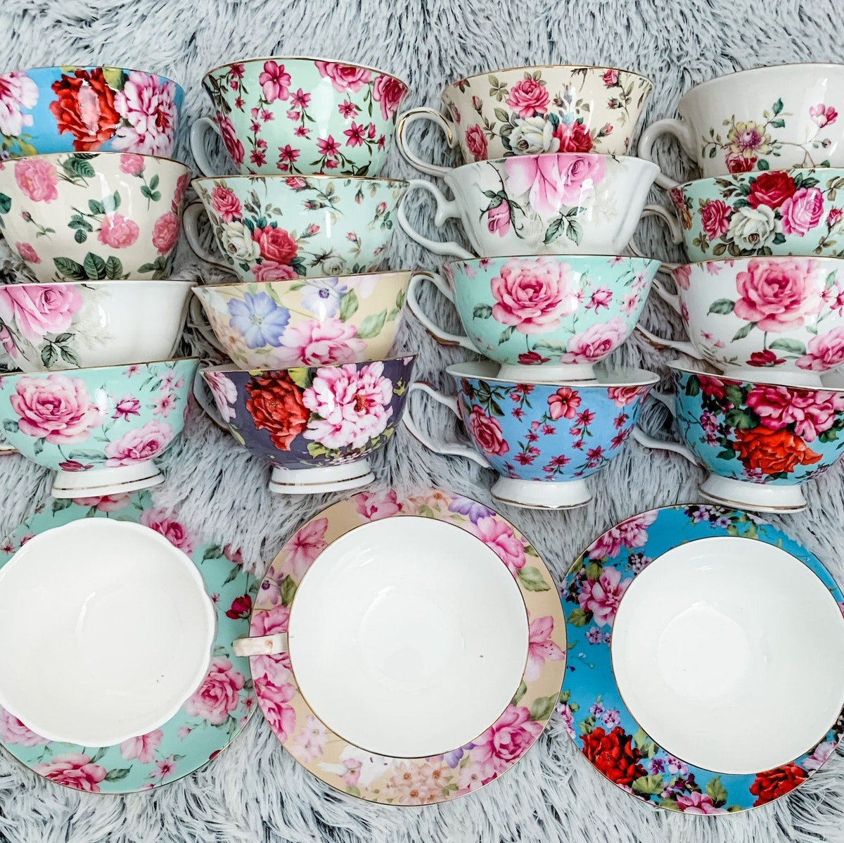 Imperfect Bulk Tea cups & Saucers with Minor Imperfections