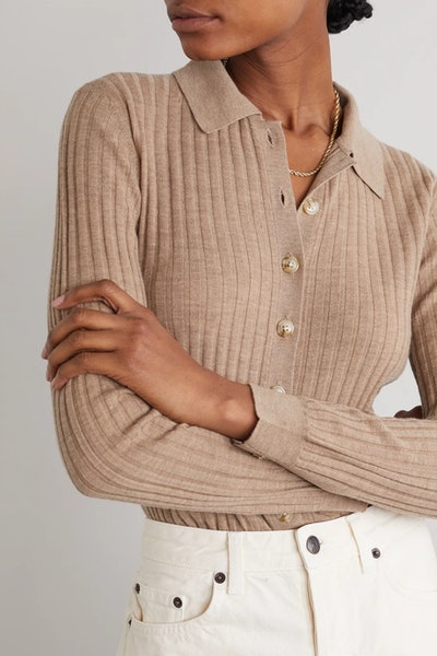 Sulug Ribbed Mélange Wool And Cashmere-Blend Sweater