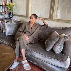Tracee Ellis Ross wearing Birkenstocks in an Instagram photo.