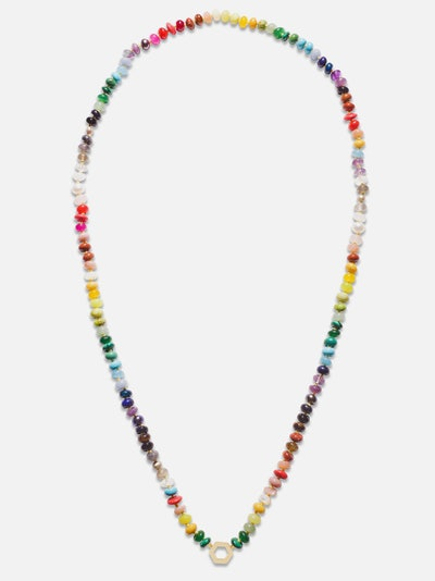 Rainbow Beaded Foundation Necklace