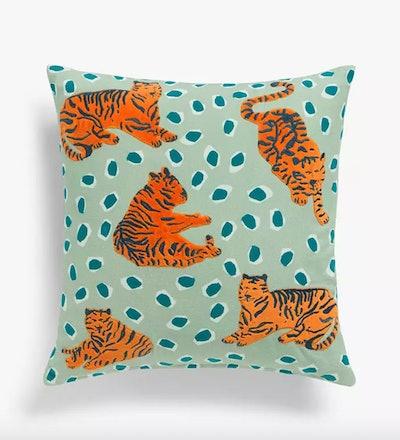 Anyday Tiger Cushion, Green / Multi