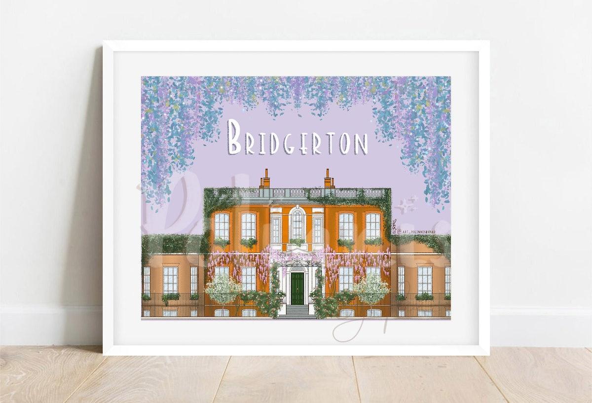 Bridgerton House Facade Illustration
