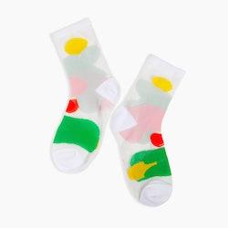 Sheer Socks in Puddles