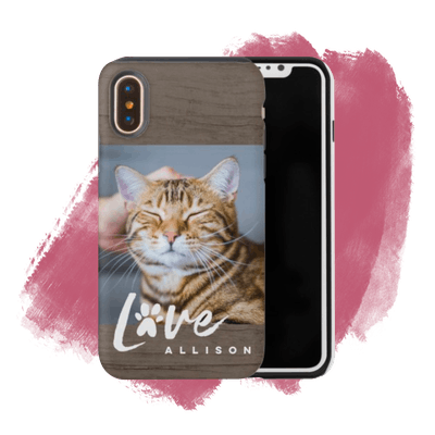 Rustic Love Paw iPhone Case
